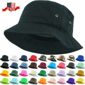 Bucket Hat Boonie Basic Hunting Fishing Outdoor Summer Cap Unisex Cotton Polyest
