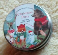 Michel Design Works CHRISTMAS PARTY Soy Wax Travel Candle 4 oz Tin NEW