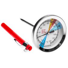 Thermometer für SCHINKENKOCHER 0,8KG, Backthermometer Edelstahl, 0-120°C