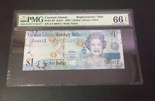 "2010 Cayman Island QE II $1 ""REPLACEMENT/STAR"" Banknote PMG 66 EPQ POP 1 !"