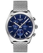 *BRAND NEW* Tissot Men's Chrono Blue Dial Mesh Bracelet Watch T1014171104100