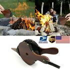 Vintage Hand Bellow Fireplace Air Blower Manual Barbecue Fire Bellows Camp Tool
