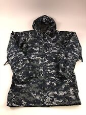 VTG US ARMY NAVY ECWCS GORE-TEX Digital Camouflage Military Parka Jacket Small