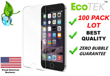 100x Wholesale Lot Tempered Glass Screen Protector for iPhone 12 11 Max 8 7 Plus
