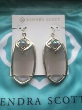 Kendra Scott Slate Gray With Iridescent Gabby Danielle Size Earrings Rare HTF