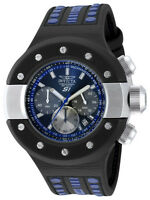 Invicta S1 Rally 19179 Men's Black Analog Round Chronograph Date Leather Watch