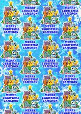 POKEMON Personalised Christmas Gift Wrap - Pokemon Pikachu Wrapping Paper