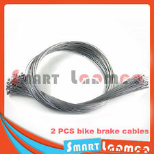 2 Mountain Bike Brake Cable Steel Inner Wire Road Cycling Line T Head 1.75m AU