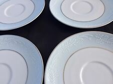 Set Of 6 NEW Noritake Japan Fine China LAUREATE 5651 Saucer Plates Blue White