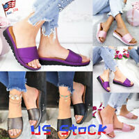 Women Slippers Platform Summer Shoes Beach Slides Ladies Wedge Casual Sandals US