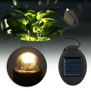 Solar Power Flower Plant Pot Light Yard Outdoor Courtyard Tool Waterproof