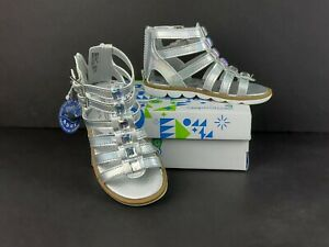 Toddler Girls STEP & STRIDE Renee Silver Sandals sz: 8.5 Ortholite New in Box