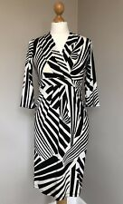 Debenhams Petite Collection Black & White Stretch Dress Size 6