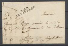 1825 Lettre en port payé P2P LE CATELET 36x7mm AISNE Superbe. P3883