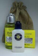 NEW L'Occitane Men's Cedrat body & hair wash, Cedrat soap & Shea shampoo Giftbag