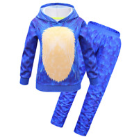 Jimdan Boys Girls Halloween Cartoon Bodysuit Costumes Hedgehog Jumpsuit 3Pcs with White Gloves+Cartoon Mask 2-15 Years