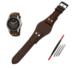 Mens Genuine Leather Watch Band Strap for Fossil CH2891 CH3051 CH2564 CH2565