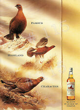 RODGER McPHAIL - Famous GROUSE Scotch Whisky ADVERT - 1991 bears signature RARE