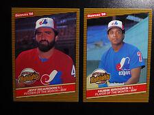 1986 Donruss Highlights Montreal Expos Team Set of 2 Baseball Cards