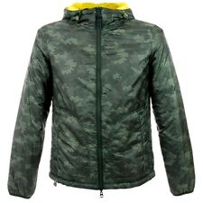 AJ ARMANI JEANS GREEN Camo-Print Reversible Shell HOODED Jacket NEW $340 sz 50/M