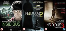INSIDIOUS TRILOGY COMPLETE COLLECTION Part 1 2 3  BRAND NEW AND SEALED UK R2 DVD