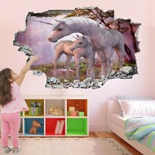 Unicorn Fantasy Forest Wall Stickers Mural Decal Poster Print Art AZ47