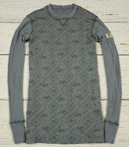 JANUS 100 % Merino Wool Winter Base Layer Shirt Top Size L
