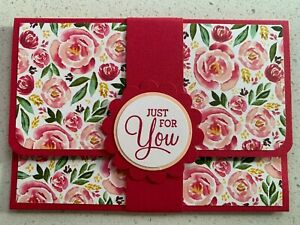Handmade gift card holder Mother's Day/For you/birthday options. Pink floral