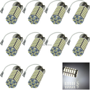 10x White RV H3 Tail Blub Front Lamp 120 Emitters 1210 SMD LED PK22s/r H058