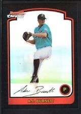 A.J. BURNETT 2003 BOWMAN CHROME #114 REFRACTOR MARLINS SP RARE