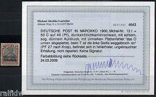 DP Marokko 50 C. Reichspost 1900 mit Plattenfehler Befund (S8023)
