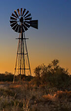AUSTRALIA  WINDMILL OUTBACK LANDSCAPE CANVAS art PHOTO PRINT BUSH SUNSET