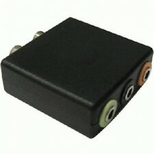 5.1 Audio and Game Console Adapater Convert 2X RCA Jack To 1/8 (3x 3.5mm) Audio
