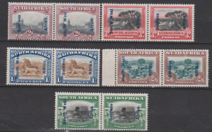 South West Africa 1927 Mint Mounted Set to 5/- PAIRS