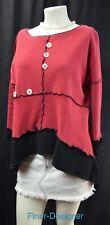 Designer Top Textured knit blouse shabby lagenlook chic Shark Bite Size S M VTG