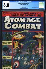 ATOM-AGE COMBAT #1 - CGC-6.0, OW - St John - Atom bomb cover