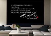 Marilyn Monroe Wall Quote Sticker Decal Mural Transfer Stencil Vinyl Art WSD520