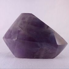 Zambian Dogtooth Amethyst Polished Double Terminated Crystal - 85mm, 246g