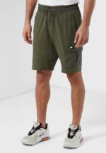 Mens Nike Cargo Shorts Khaki Green Large Standard Fit Knee Length Retail £45