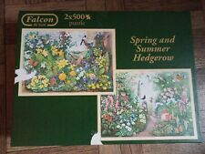 Falcon De Luxe 2 x 500 Piece Jigsaw Puzzle 'Spring and Summer Hedgerow'