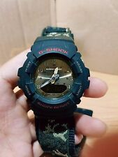 G-Shock Vintage G-100 Military Green Camouflage Cloth Band Digit-Ana Limited.