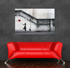 Banksy  street art Graffiti Balloon Girl 36 x 24  Canvas Print  - There is Hope