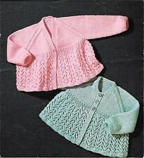 """Sirdar 3173 Vintage Baby Knitting Pattern Cardigan DK 20"""" 6-12 months"""