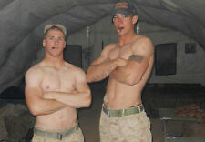 Shirtless Male Army Boys Military Hunks Smoking Tattoos PHOTO 4X6 Pinup P1868***