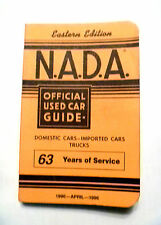 NADA APRIL 1996 Official Used Car Guide EASTERN Edition Cars Trucks
