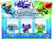 Skylanders Spyros Adventure 3 Pack  Original 2012 LIGHTNING-ROD CYNDER ZOOK  NIP