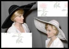 2 Wide Brim Picture HATS Fit Franklin Mint Princess Diana Rose FREE U.S.SHIPPING