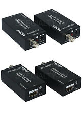 HDMI + IR over single 75ohm RG-6U Coax Cable Extender Balun Sender Receiver BNC