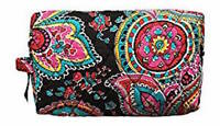New With Tags Vera Bradley Large Cosmetic Makeup Case Bag - Choose color