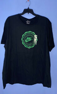 RARE! SIZE 3XL Nike Air Swoosh Logo Men's Cotton Tee Shirt DJ3877 010 Black